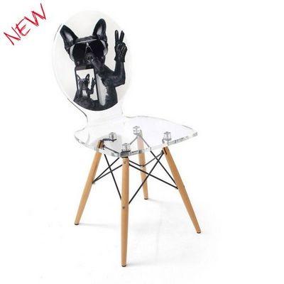 ACRILA - Chaise-ACRILA-Chaise Graph piètement bois