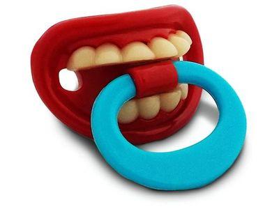 WHITE LABEL - Tétine-WHITE LABEL-Sucette et drôle de tétine orthodontique avec dent