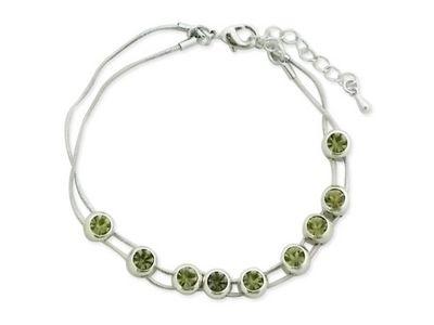 WHITE LABEL - Collier-WHITE LABEL-Bracelet aux  faux cristaux verts mobiles bijou fa