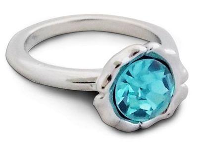 WHITE LABEL - Bague-WHITE LABEL-Bague argent�e rayonnante avec pierre turquoise bi