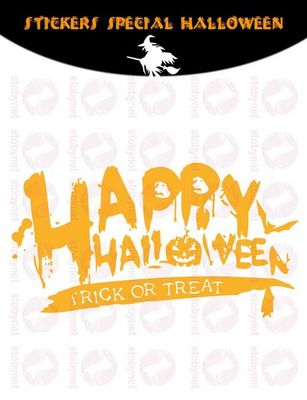WHITE LABEL - Sticker-WHITE LABEL-Sticker Happy Halloween