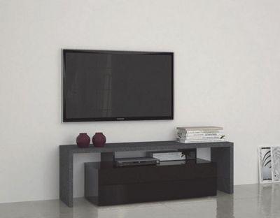 WHITE LABEL - Meuble tv hi fi-WHITE LABEL-Meuble design TV TREVISO 2 noir