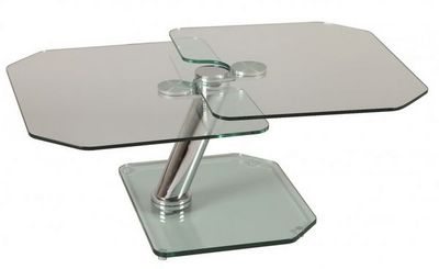 WHITE LABEL - Table basse forme originale-WHITE LABEL-Table basse FLY double plateaux