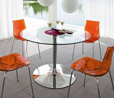 Calligaris - Table de repas ronde-Calligaris-Table repas ronde PLANET de CALLIGARIS 120x120 en