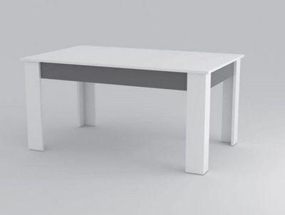 WHITE LABEL - Table bureau-WHITE LABEL-Table repas MITO blanche et grise