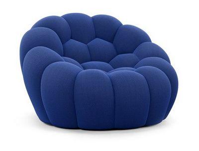 bubble fauteuil bleu roche bobois decofinder. Black Bedroom Furniture Sets. Home Design Ideas