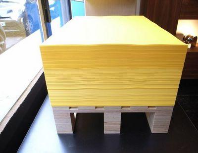 MALHERBE EDITION - Table basse forme originale-MALHERBE EDITION-Table basse Imprimerie Luxe