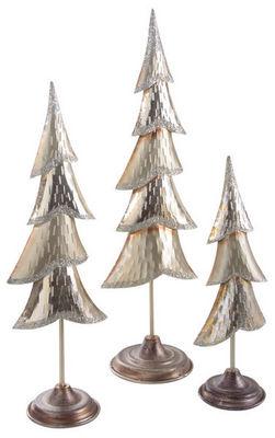 Aubry-Gaspard - Statuette-Aubry-Gaspard-Sapin de Noël en métal laqué or et paillettes (Lot