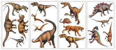 RoomMates - Sticker Décor adhésif Enfant-RoomMates-Stickers repositionnables Dinosaures