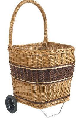 Aubry-Gaspard - Chariot de marché-Aubry-Gaspard-Chariot de marché en osier