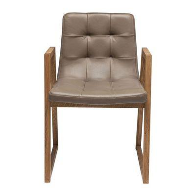 Kare Design - Chaise-Kare Design-Chaise en cuir Trapez