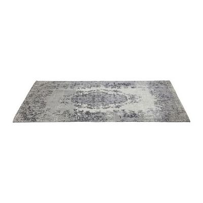 Kare Design - Tapis contemporain-Kare Design-Tapis Carré Kelim Pop gris 240x170