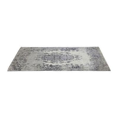 Kare Design - Tapis contemporain-Kare Design-Tapis Carr� Kelim Pop gris 240x170