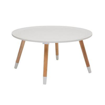 Kare Design - Table basse ronde-Kare Design-Table Basse Ronde Blossom blanche 70 cm