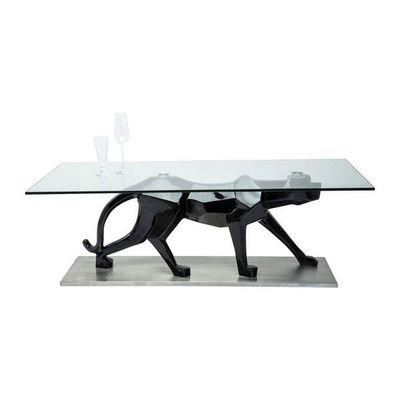 Kare Design - Table basse rectangulaire-Kare Design-Table Basse en verre Black Cat 140x70 cm