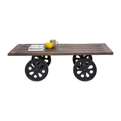 Kare Design - Table basse rectangulaire-Kare Design-Table Basse à roulettes Manor House 160x76 cm