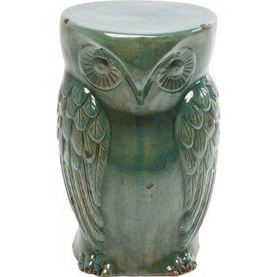 Kare Design - Tabouret-Kare Design-Tabouret Owl vintage turquoise