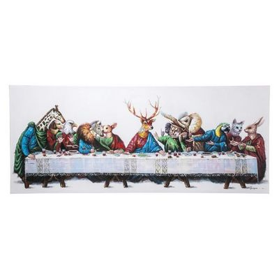 Kare Design - Tableau décoratif-Kare Design-Tableau Touched Last Supper 100x240