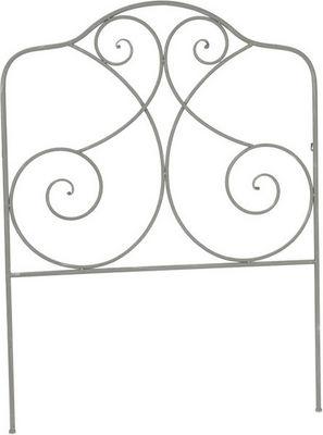 Amadeus - Tête de lit-Amadeus-Tête de lit en fer gris Rosace