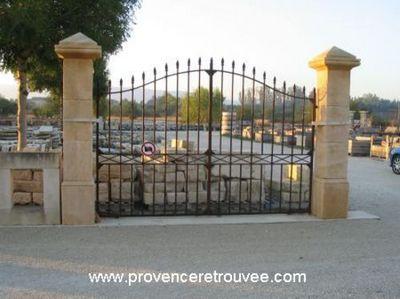 Provence Retrouvee - Pilier de portail-Provence Retrouvee-pil35-240P--P-PM-NT