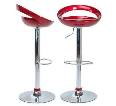 Miliboo - Tabouret de bar-Miliboo-Le lot de 2 tabourets COMET lie de vin