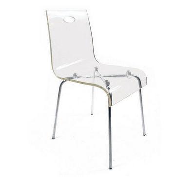 Miliboo - Chaise-Miliboo-Chaise design Cindy transparente