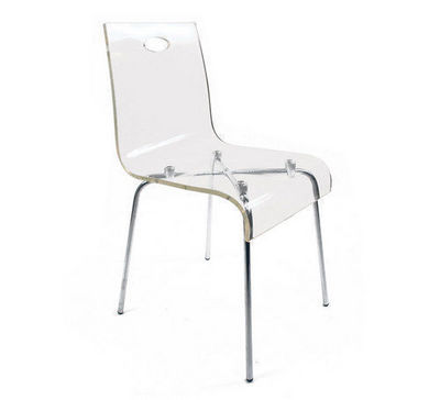 Miliboo - Chaise-Miliboo-Chaise design Cindy transparente