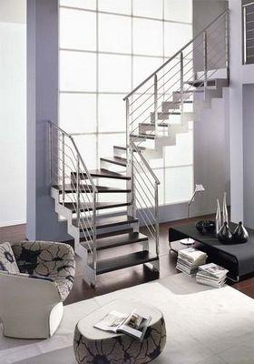 NOVALINEA - Escalier un quart tournant-NOVALINEA-LASER SATIN