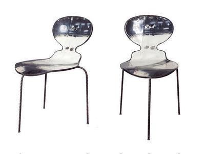 PO! PARIS - Chaise-PO! PARIS-Chaise en métal de récupération