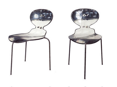 PO ! PARIS - Chaise-PO ! PARIS-Chaise en métal de récupération