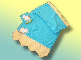 CréaFlo - Drap de bain enfant-CréaFlo-serviette enfant JUNGLE 3 ans et +