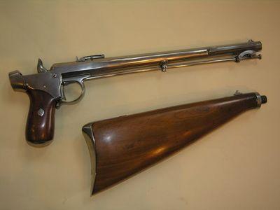 Aux Armes d'Antan - Pistolet et révolver-Aux Armes d'Antan-Intéressant pistolet DELVIGNE à percussion