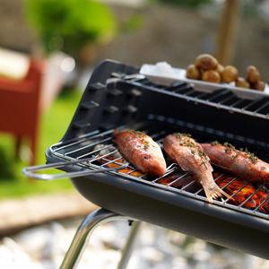 INVICTA - Barbecue au charbon-INVICTA-Barbecue Mombassa en Fonte et Acier 67x53x86cm