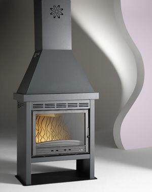 INVICTA - Foyer de chemin�e � porte escamotable-INVICTA-Fourneau con�u en bois Doncheville de mont� 14kW 8