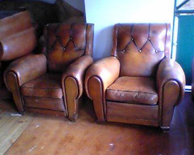 Fauteuil Club.com - Fauteuil club-Fauteuil Club.com-paire de Gros fauteuils