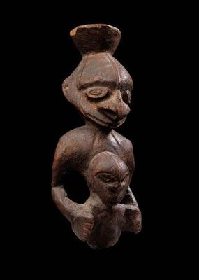 Michael Hamson Oceanic Art - Statuette-Michael Hamson Oceanic Art-Figure de maternité ancestrale
