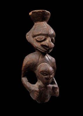 Michael Hamson Oceanic Art - Statuette-Michael Hamson Oceanic Art-Figure de maternit� ancestrale