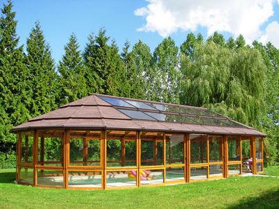 Menuiserie Cormeillaise - Abri de piscine haut fixe indépendant-Menuiserie Cormeillaise-fermé-vitré