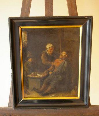 Baron Antiquités - Huile sur toile et huile sur panneau-Baron Antiquités-Ecole Hollandaise Joueurs de cartes