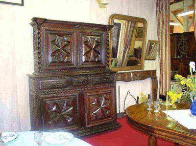 Antiquités FAUROUX - Buffet deux corps-Antiquités FAUROUX-Buffet deux corps Bigourdan