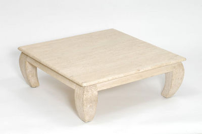 Marbrerie Rouillon - Table basse carrée-Marbrerie Rouillon-Ming
