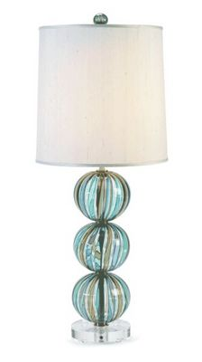 Tracy Glover Objects & Lighting - Lampe � poser-Tracy Glover Objects & Lighting-Striped Bocce Table Lamp