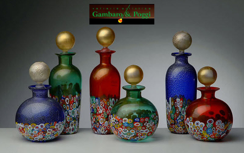 Gambaro & Poggi Murano Glass Bathroom bottle Bathroom accessories Bathroom Accessories and Fixtures Bathroom | Classic