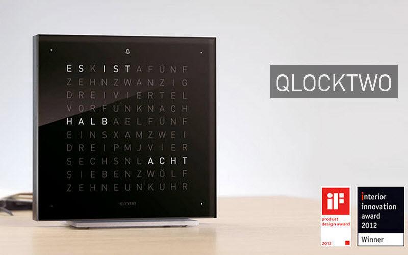 Qlocktwo Desk clock Clocks, Pendulum clocks, alarm clocks Decorative Items Home office  
