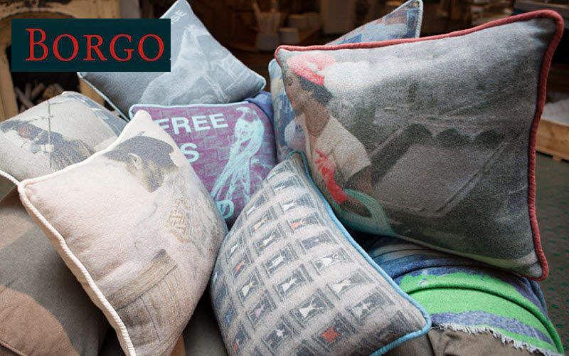 BORGO DELLE TOVAGLIE Square Cushion Pillows & pillow-cases Household Linen   