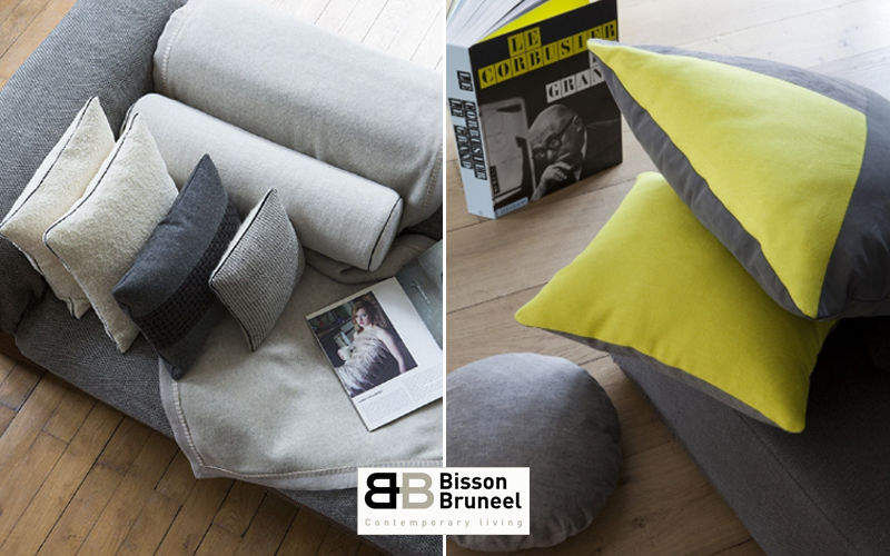 Bisson Bruneel Square Cushion Pillows & pillow-cases Household Linen  |
