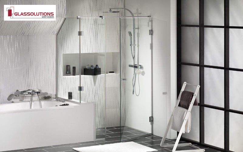 GLASSOLUTIONS France Shower screen panel Showers & Accessoires Bathroom Accessories and Fixtures  |