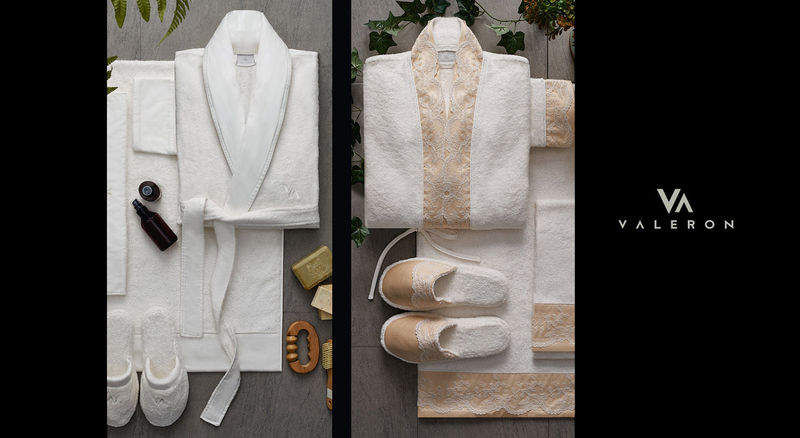 VALERON Women's bathrobe Bathroom linen Household Linen  |