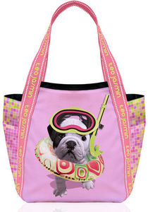 Teo Jasmin - sac cabas imperméable téo scuba rose baby téo jasm - Shopping Bag