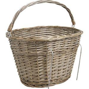 Aubry-Gaspard - panier pour vélo en osier gris - Bicycle Basket